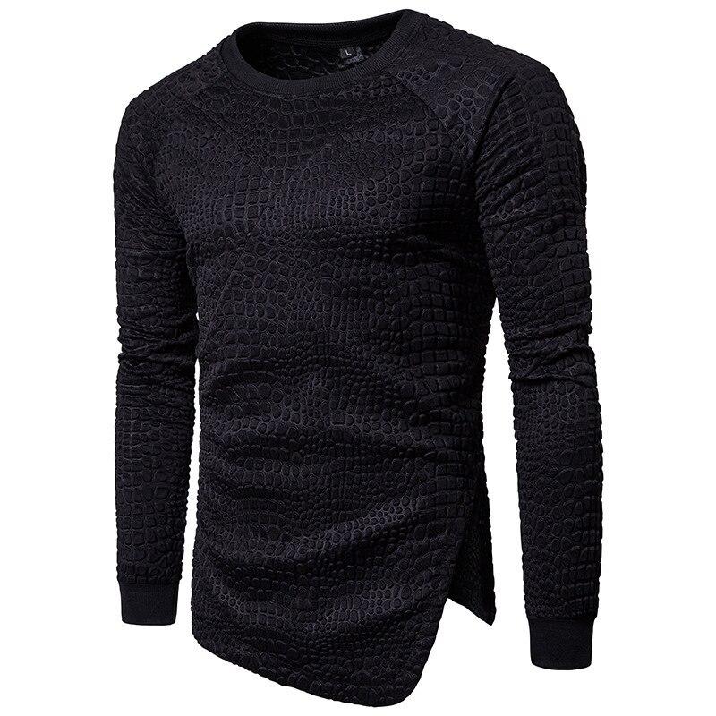 Mens Embossed Design Diagonal Fashion Solid Color pullover hoodie men casual hoodies long sleeve hooded