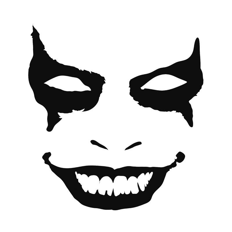 Joker Clown Face Vinyl Decal Bumper Sticker - Car JDM Batman Truck Window Door
