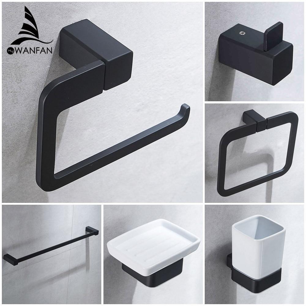 Bathroom Series European Modern Bathroom Hardware Toilet Paper Holder  Cup Holder Soap Dish Robe Hook WF-92200