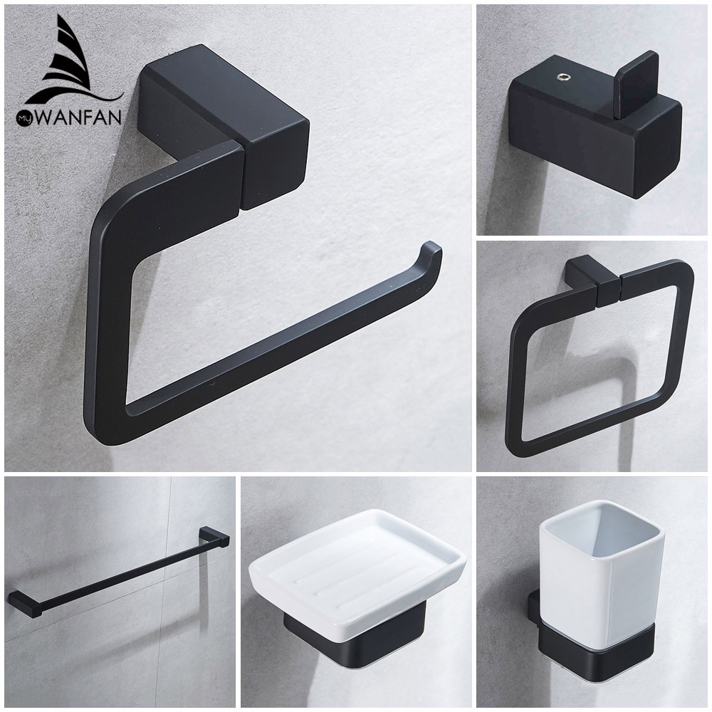 Bathroom Series European Modern Bathroom Hardware Toilet Paper Holder Cup Holder Soap Dish Robe