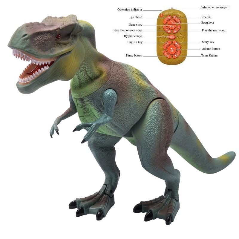 Électrique Jouets Télécommande Dinosaure Tyrannosaurus Triceratops Modèle Figures Animales Prêt-à-aller Batterie Exploité Électronique