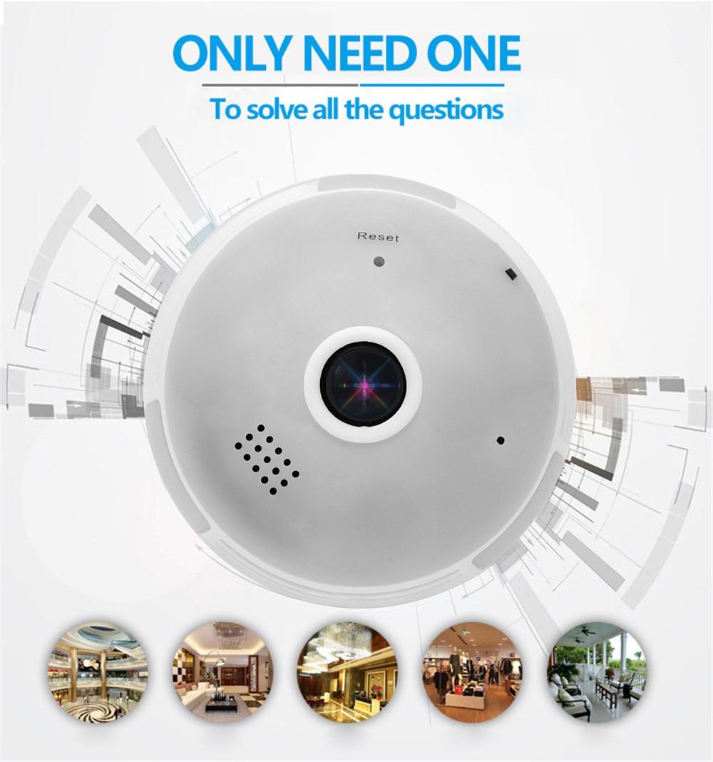 Wistino Wireless IP Camera Bulb Light WiFi 960P VR Panoramic FishEye Lamp Cameras CCTV Security Home Baby Monitor 360 Degree Night Vision (2)