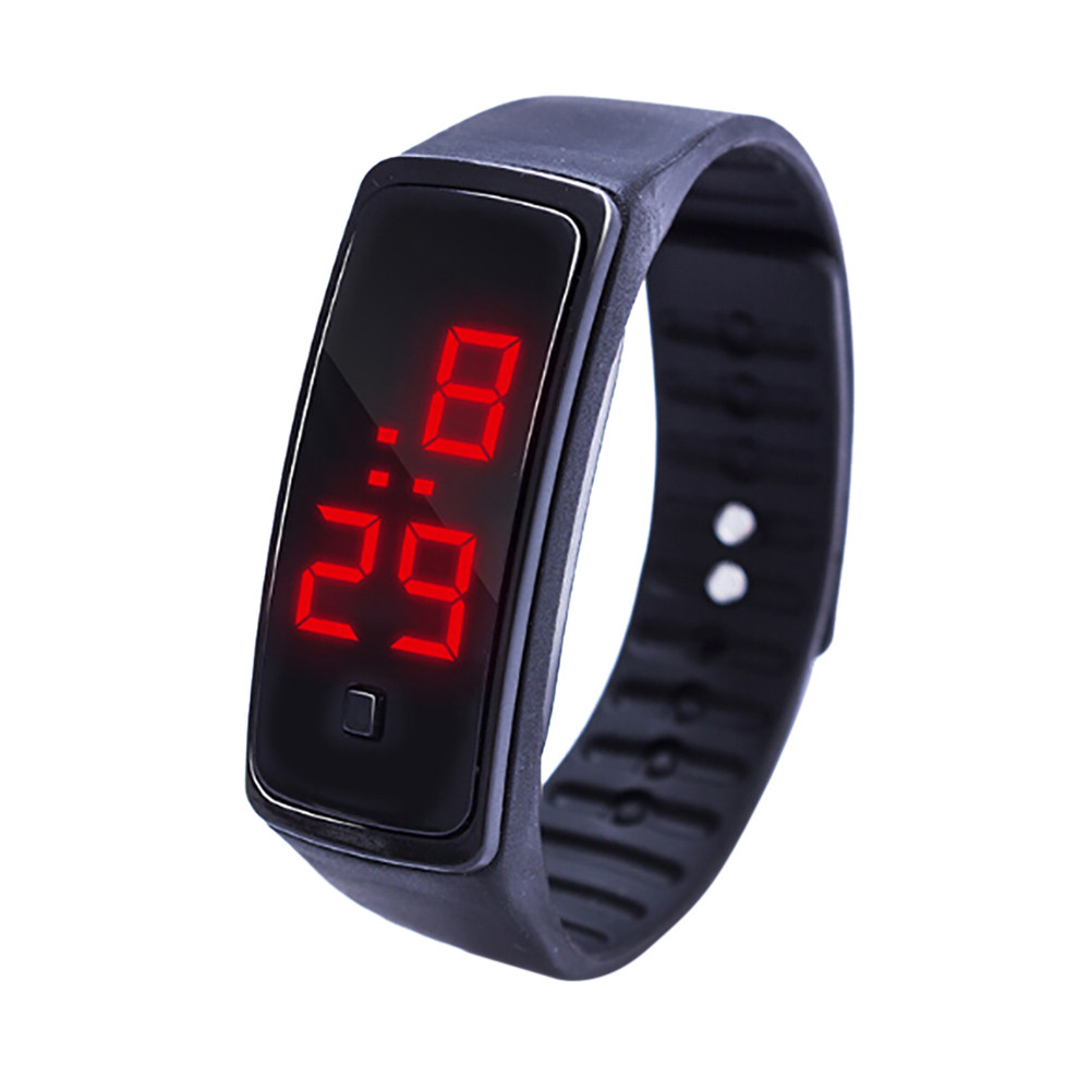 100% Wahr Männer Frauen Led Digital Display Armband Uhr Kinder Studenten Silica Gel Sport Uhr Armbanduhren Männer Frauen Armbanduhr Die Nieren NäHren Und Rheuma Lindern