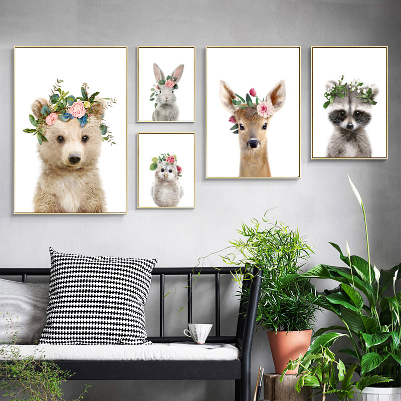 Quadro Nordic Style Kids Decoration Wall Art Canvas ...