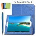Para Teclast protectora de LA PU Funda de Cuero Protectora Shell/Piel Para Teclast X98 Plus II Tablet PC latencia caso 9.7 pulgadas + pluma