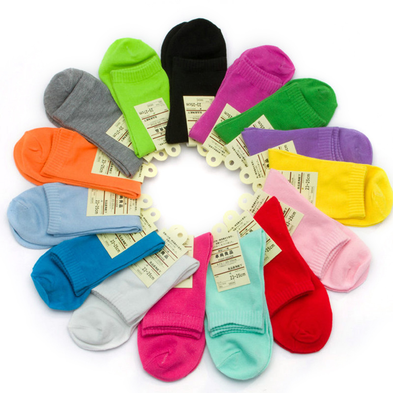 fc247b603 10 Pairs New Hot Sale Colorful Design Funny Socks Women Quality Spring  Summer Winter Pure Solid
