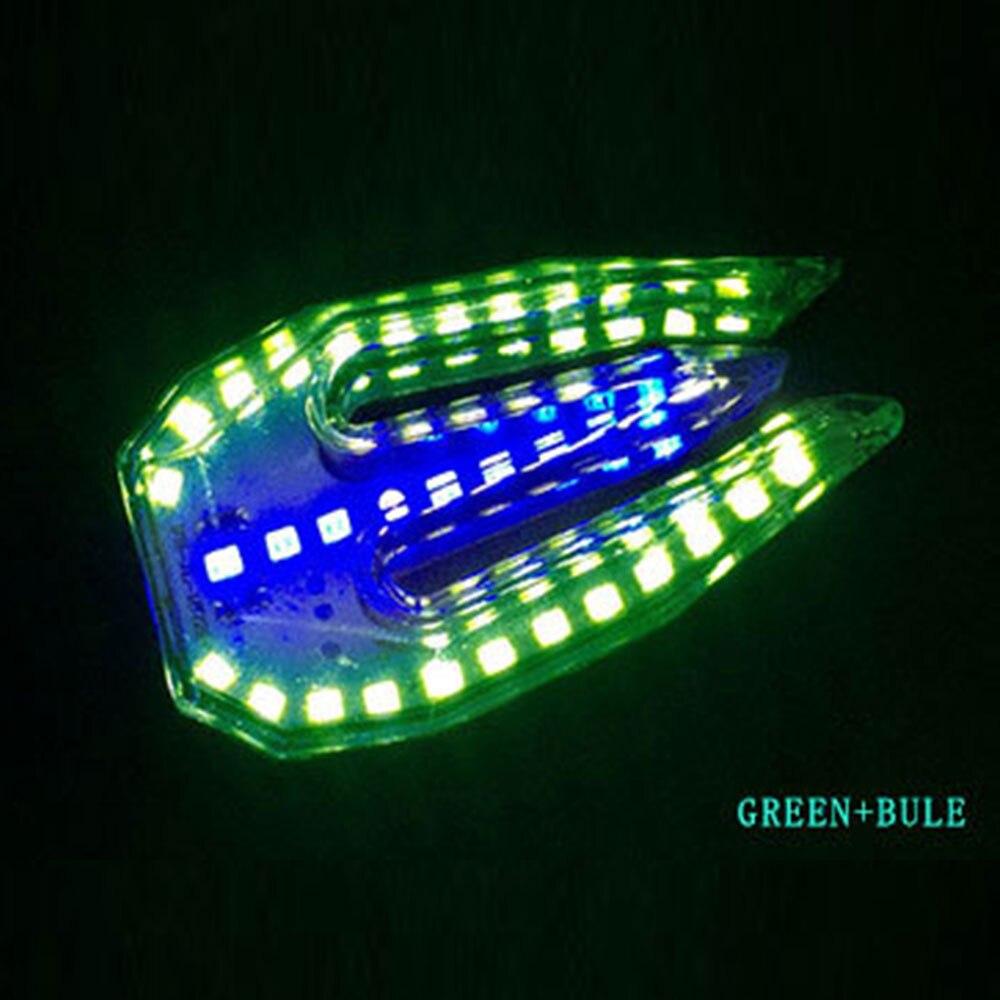 Мотоцикл DRL Замена поворотного сигнала Универсальный двойного назначения сигнал поворота прочный ремонт сигнальная лампа, индикатор света - Цвет: Green Blue