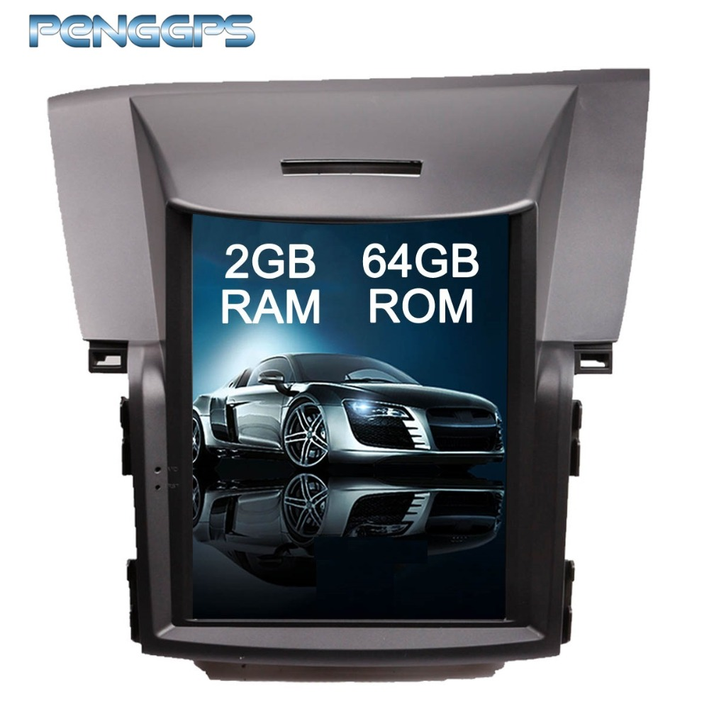 Tesla Style Android 6.0 Car Radio <font><b>GPS</b></font> Navigation DVD Player Headunit for <font><b>Honda</b></font> <font><b>CRV</b></font> 2012-2016 IPS 10.4 Inch Touch Screen Unit image