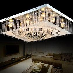 Proste nowoczesne światła sufit kryształ pokoju prostokątne lampy kryształowe LED sufitowe lampy sufitowe oświetlenie sypialni SJ6 światła ya74