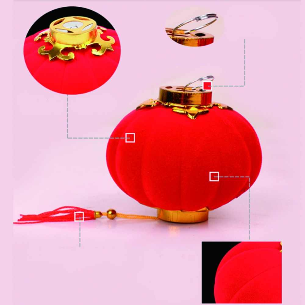1PC Small Red Tradition Chinese Lanterns Mini Layout Lantern for Festival Wedding Party Hotel Festival Home Decorations Lantern