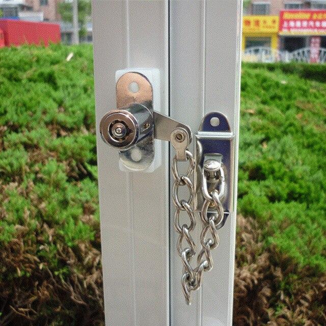 Ventana cadena de seguridad cerradura de la puerta limitador seguridad inoxidable Anti-robo de cerraduras para puerta corredera Puerta de Hardware de muebles