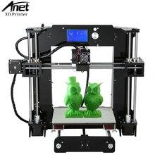 ANET A6 DIY 3D printer Newest Upgraded Reprap Reprap Prusa i3 precision with 1 Roll Kit DIY filament 16GB SD card LCD screen