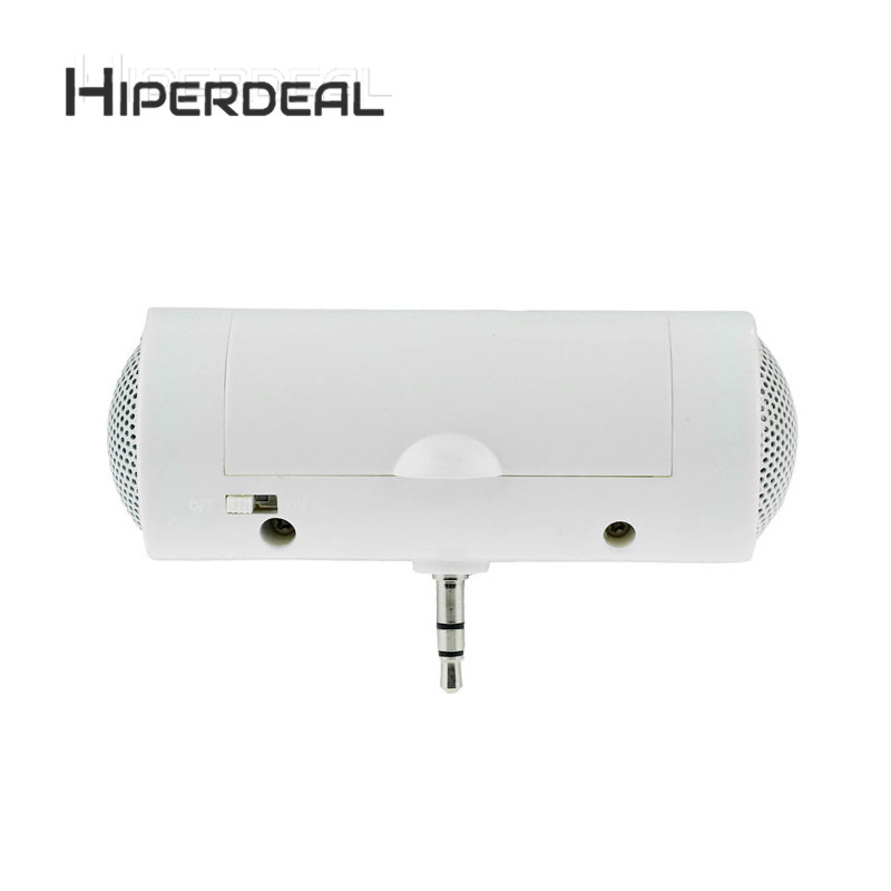 HIPERDEAL Mini 3.5mm Music Player Stereo Speaker For Smartphone Mini Speaker White Subwoofer Loudspeakers WithTF FM Sep6