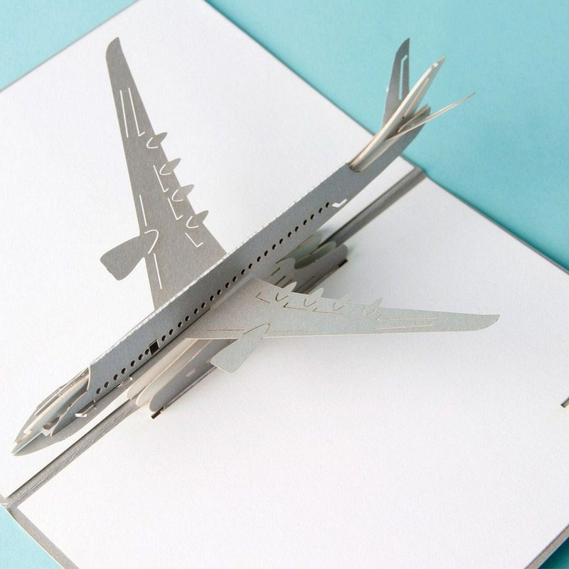 3D Laser Cut Handmade Carving Fly Plane Aircraft Paper Invitation ...