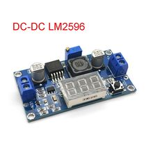 Módulo de tensão ajustável buck dc, regulador de voltagem com módulo lm2596 DC-DC 4.0 ~ 40v para 1.25-37v voltímetro led DC-DC 2a curto circuito