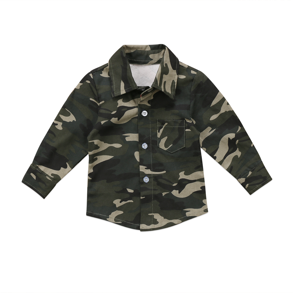 Gift Kids Infant Baby Boys Girls Fashion Cool Camo Long Sleeve Top Camouflage Shirts Holiday Casual Clothes
