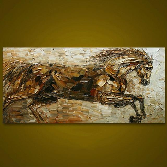 Prowadzenie Konia Ręcznie Malowane Unframed Obraz Olejny Duży