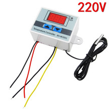 5PCS new 220V W3001 Digital LED Temperature Controller 10A Thermostat Control Switch Probe XH W3001