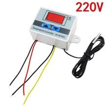 Controlador de temperatura Digital LED, nuevo controlador de temperatura LED de 220V W3001, Control de termostato 10A, interruptor de sonda XH W3001, 5 uds.