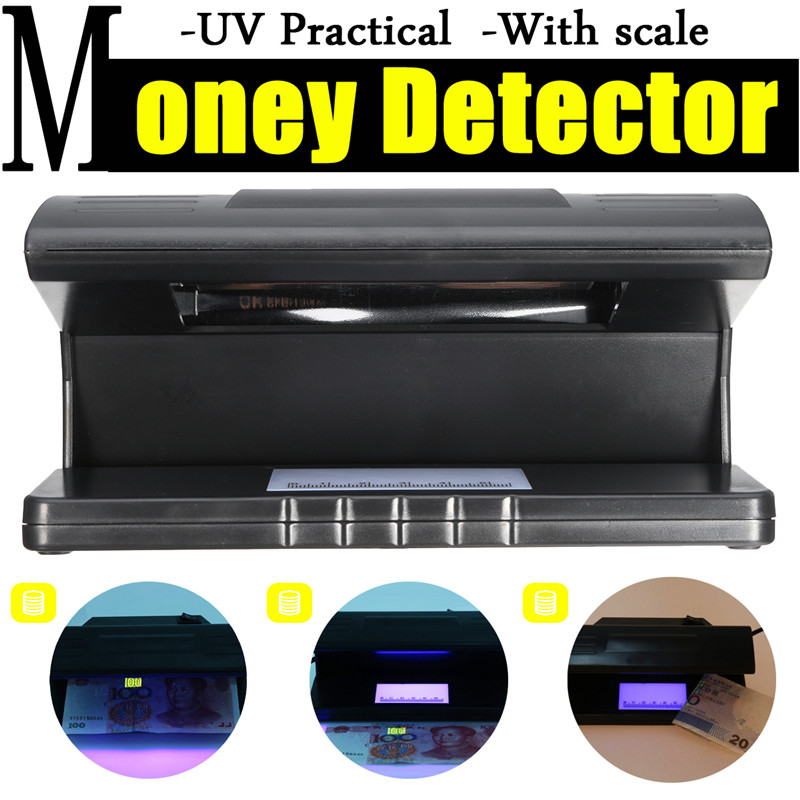 4W UV Light Money Bill Detector Currency Tester Portable Lamp Dollar Fake Checkers Scale Practical Counterfeit ON/OFF Switch