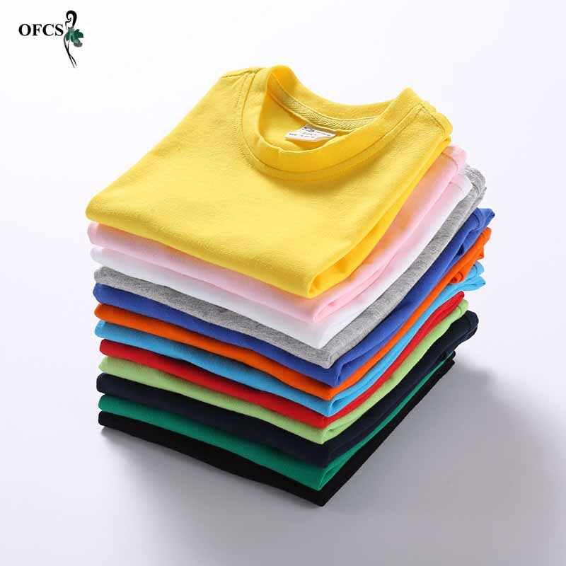 חדש הקמעונאי קיץ T חולצה עבור בנות בני כותנה קצר שרוול של ילדי חולצה ילדי חולצת טי פעוטות רך בגדים חולצות Tees 2-12