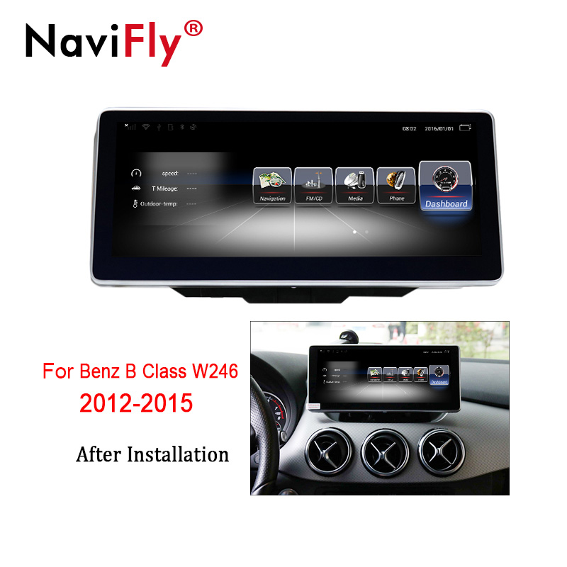 NaviFly 3+32 Android 7.1 car multimedia player for Mercedes Benz B Class W246 2012-2015 GPS navigation Video Audio Player 4G LTE