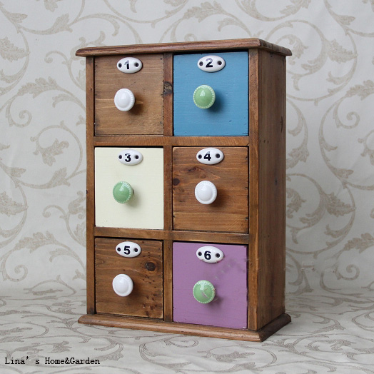 Solid Wooden Vintage Mini Storage
