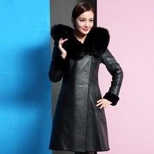 New winter women's  jacket fur leather overcoats maternity winter clothing pregnancy jacket warm clothing women's parkas 16971