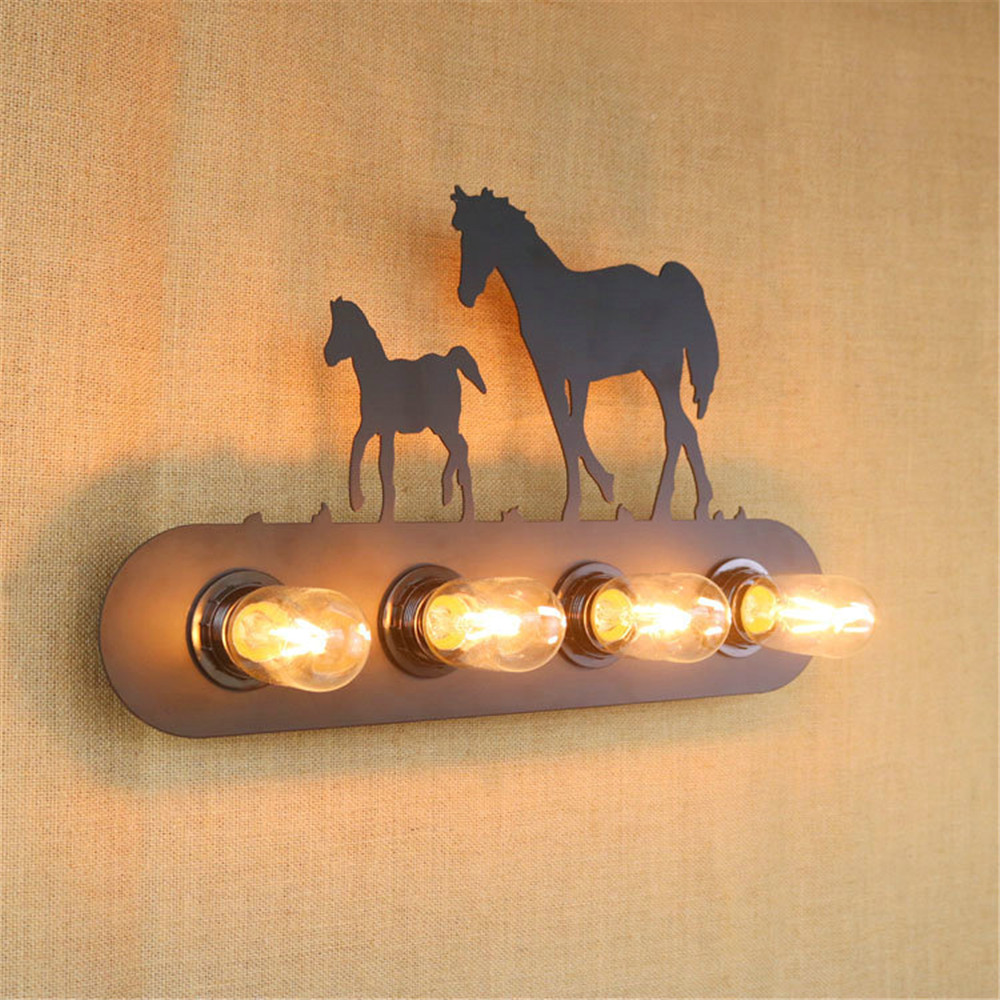 creative vintage Modern wall lamp country style indoor lighting bedside lamp light for home with 4pcs light source 110V/220V E27 creative led wall lighting modern reading bedside lamp telescopic wall lamp robotic arm e14 incandescent wall lamp