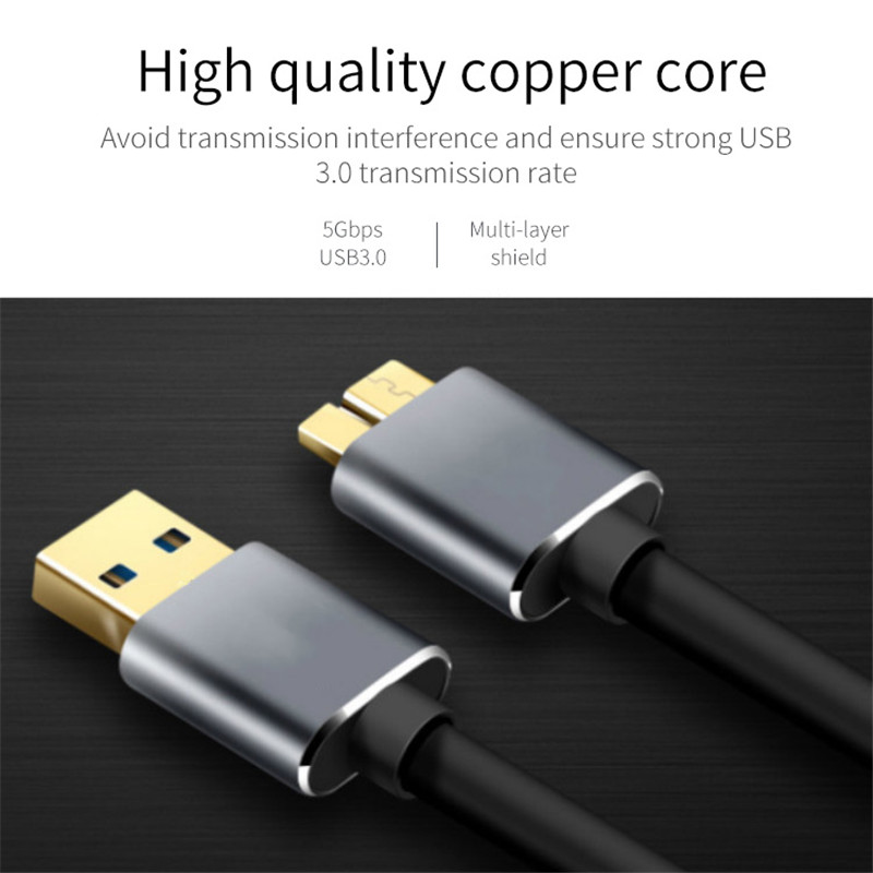 USB 3.0 Cable Fast Speed USB Type A Micro B Data Sync Cable Code for External Hard Drive Disk HDD Samsung S5 Note 3