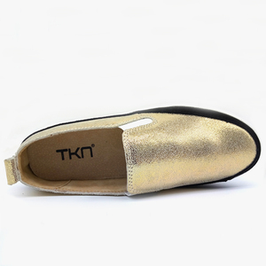 Image 5 - TKN 2019 סתיו נשים דירות נעלי גבירותיי פלטפורמת להחליק על נעלי עור עבה סוליות Tenis Feminino סניקרס Creeper אישה 8835