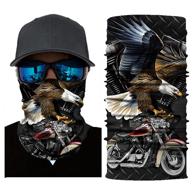 Cool Motorcycle Mask Face Shield Biker Balaclava Ghost Unisex Skull Face Mask Cycling Seamless Bandanas Mascara Moto Biker Mask