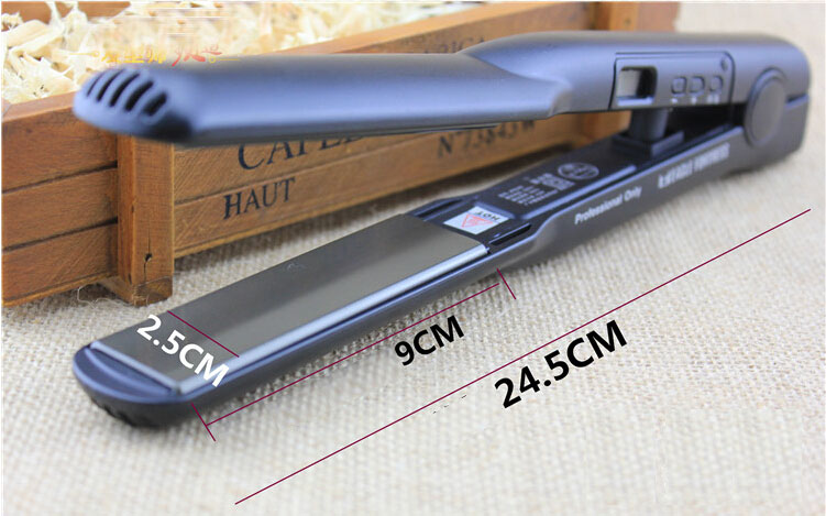 W512A Titanium Perfect Quality Hair Straightener Professional ceramic flat curling iron styler straightening irons styling tools 512 pro ceramic hair straightener hair styler flat iron 100 240v istant heat 1 3 inchs form 113f to 470f