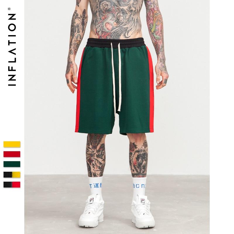 INFLATION New Arrivals Side Stripe Drawstring Shorts Mens Fashion Clothing Mens Short Sweatpants Streetwear Shorts 8408S