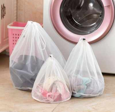Mesh Laundry Wash Bags Foldable Delicates Lingerie Bra Socks Underwear Washing Machine Clothes Protection Net 3 size