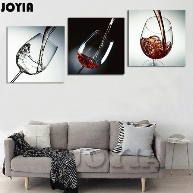 Perfect Moderne Wand Dekor Painting Esszimmer Dekorative Bilder Rotwein Glas  Leinwand Kunst Bar Dekoration 3 Teile