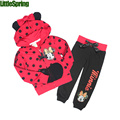 Toddler Girls Polka Dot Cartoon Clothing Set Girl minnie mouse 2017 Spring Autumn cotton tracksuits kids clothes sports suit
