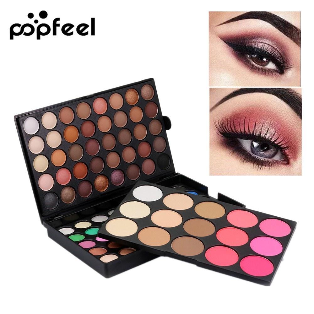 Popfeel 95 Colors Eye Shadow Makeup Palette Waterproof Matte Eyeshadow Palette Women Beauty Eye Makeup Cosmetic Eyeshadow Kits in Eye Shadow from Beauty Health