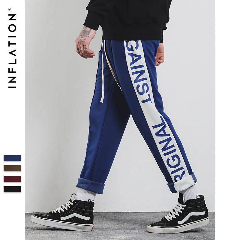 INFLATION 2018 Mens Sportswear Pants Side Stripe Pockets