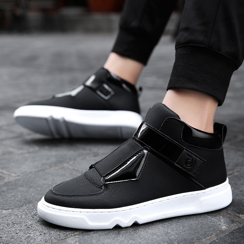 UTENAG Popular Fashion Elastic band Black White Men Sneakers Male Casual Shoes Comfortable Brand Non-slip Rubber sole Mens shoes brand 2017 hoodie new zipper cuff print casual hoodies men fashion tracksuit male sweatshirt off white hoody mens purpose tour