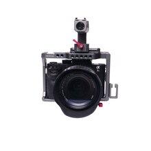 Профессиональный Камера Cage Kit for sony A7RIII/A7III клетка с НАТО ручка + двойной Шаровые Головки комплект