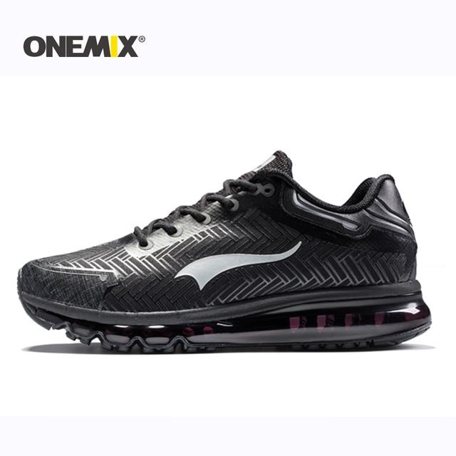 Onemix 2017 Мужская обувь для бега уличная прогулочная обувь спортивные туфли легкие туфли для бега трусцой для взрослых спортивные туристические кроссовки 39-46