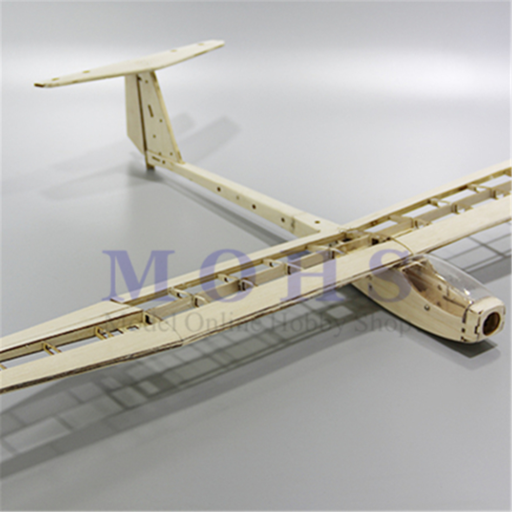 Image 4 - RC aircraft glider guppy wood airplane kits canopy hinges COMBO RC scale airplane glider guppy balsa fixed wing  kits COMBOParts & Accessories   -