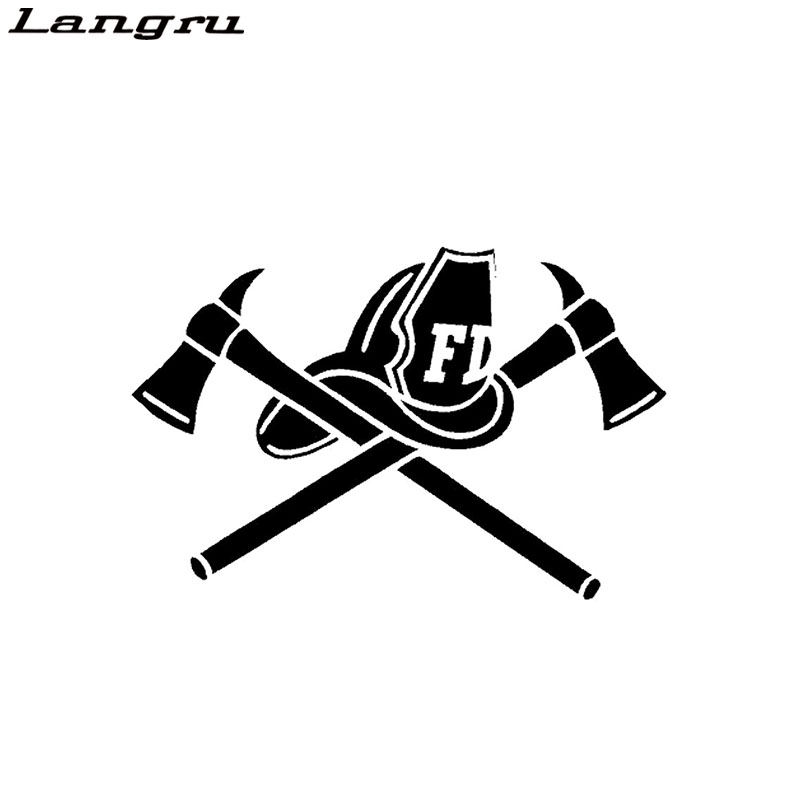Langru Fire Fighter Skull Vinyl Decal Car Sticker Helmet Axe Funny Car-styling Decoration Jdm Back To Search Resultsautomobiles & Motorcycles
