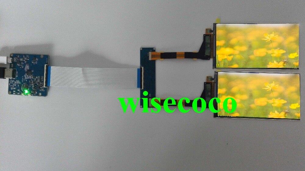 5,5 дюймов 2 К 1440*2560 двойной экран TFT ЖК дисплей дисплей с HDMI MIPI USB драйвер совета плате контроллера