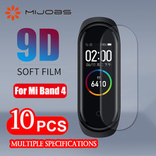 For Xiaomi Mi Band 4 Screen Protector Soft Film For Xiaomi Mi Band 4 Smart Bracelet Accessories Full Screen Permeability Film(China)