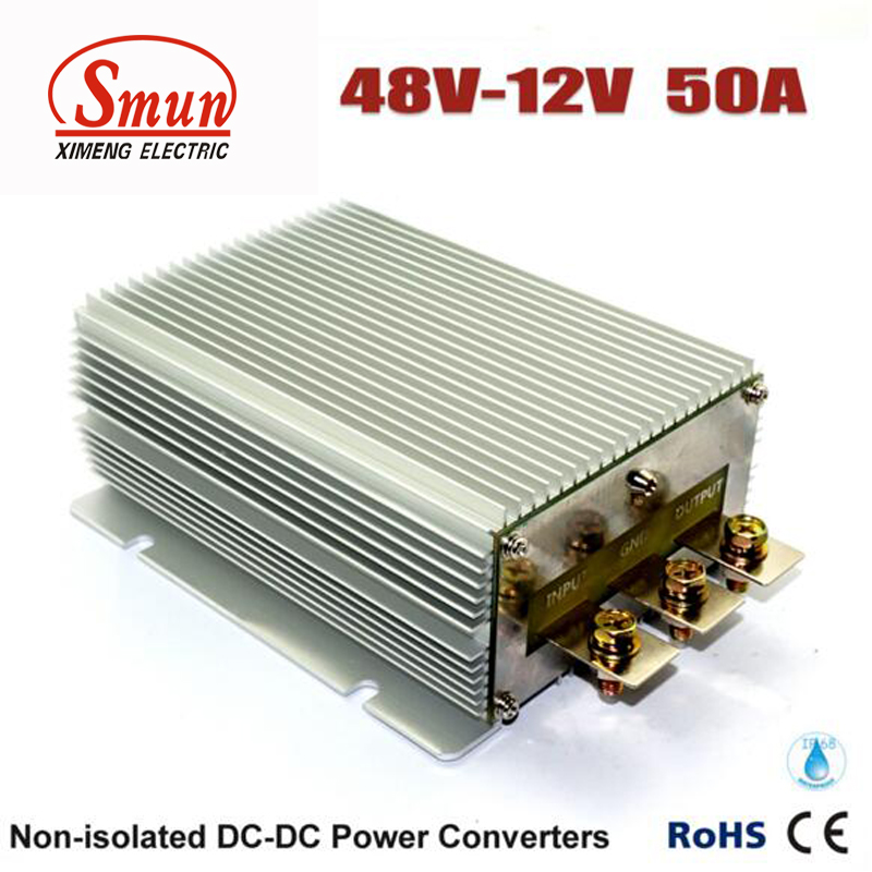 48V TO 12V 50A 600W DC DC Step Down Converter Car Power Supply 1pc step down converter waterproof car power supply module regulator dc dc 24v to 12v 20a 240w for electric motor