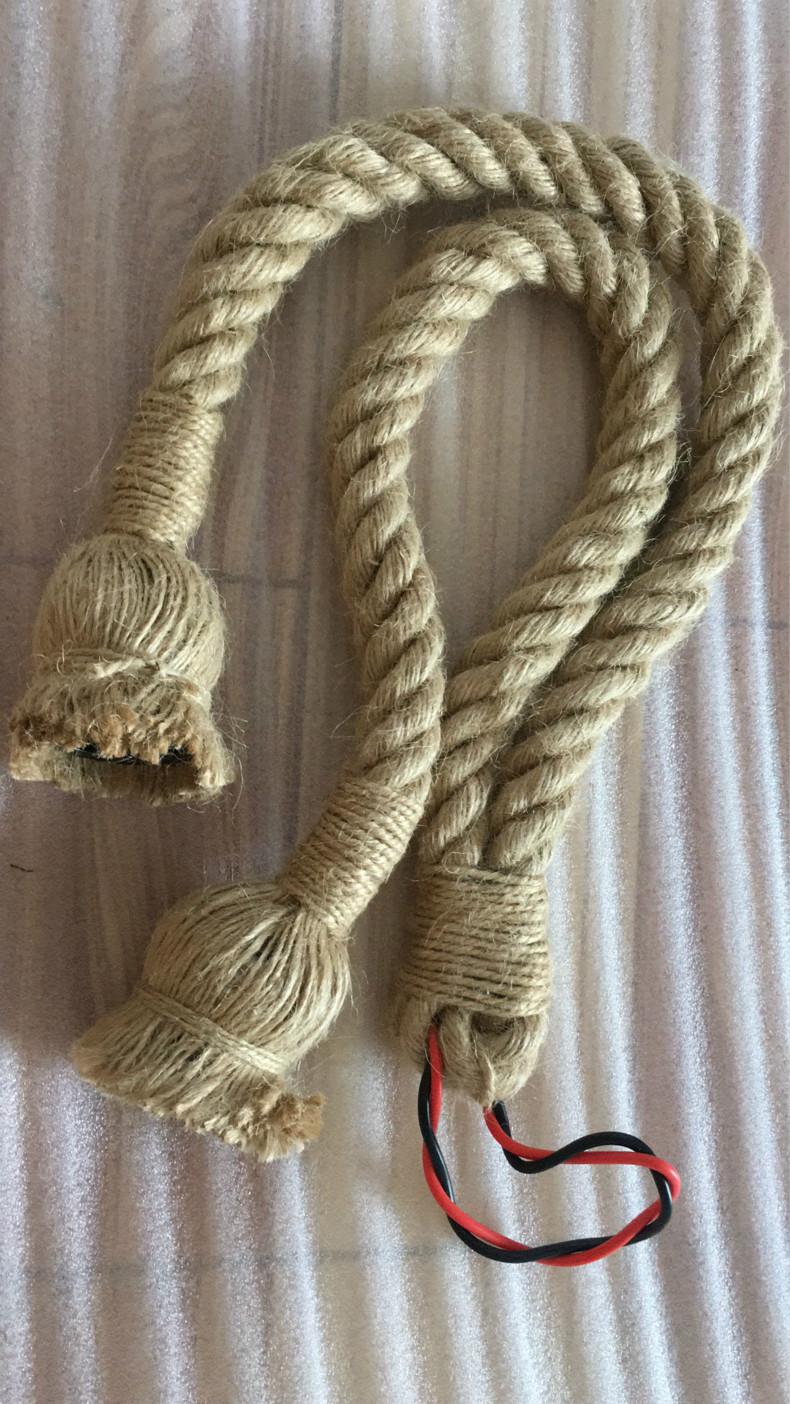 Vintage Retro Hemp Rope Pendant Lights Loft Hanging Lamp for Living Room Kitchen