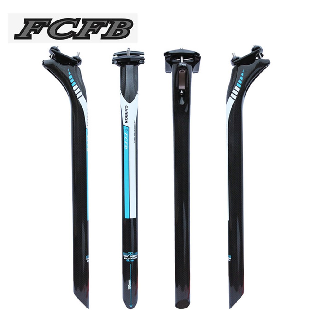 FCFB blue Road bicycle 3K full carbon fibre seatpost Mountain carbon bike seatpost MTB parts 27.2/30.8/31.6*350/400mm