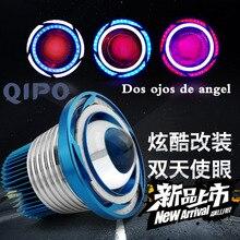Qipo мотоцикл фар дневного света высокой и низкой освещенности + Детонация флэш скутер передний свет лампы 2500lm